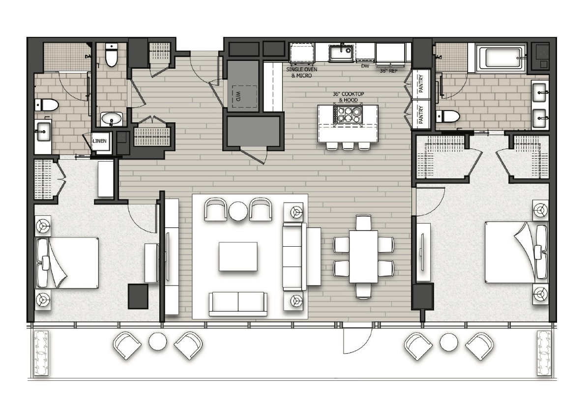 Floor Plan for Residence at the Sawyer Luxury Condo